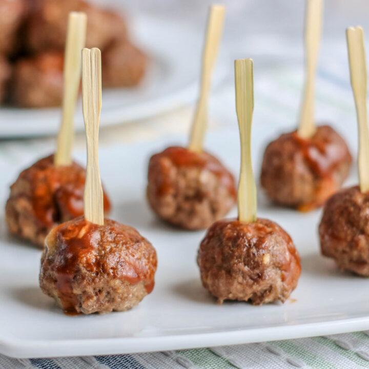 Cheese Stuffed Barbecue Meatballs