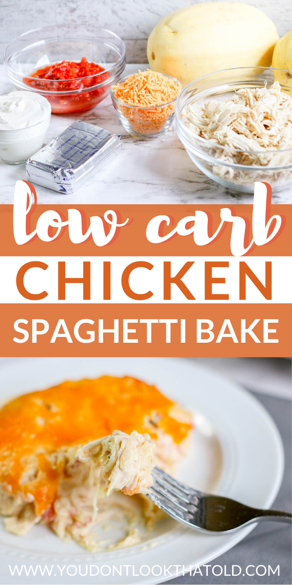 Low Carb Creamy Chicken Spaghetti Dinner