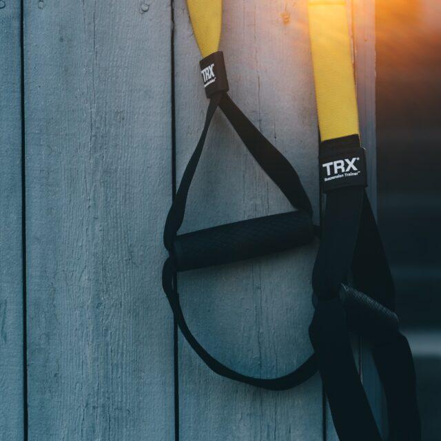 trx straps outside exercise
