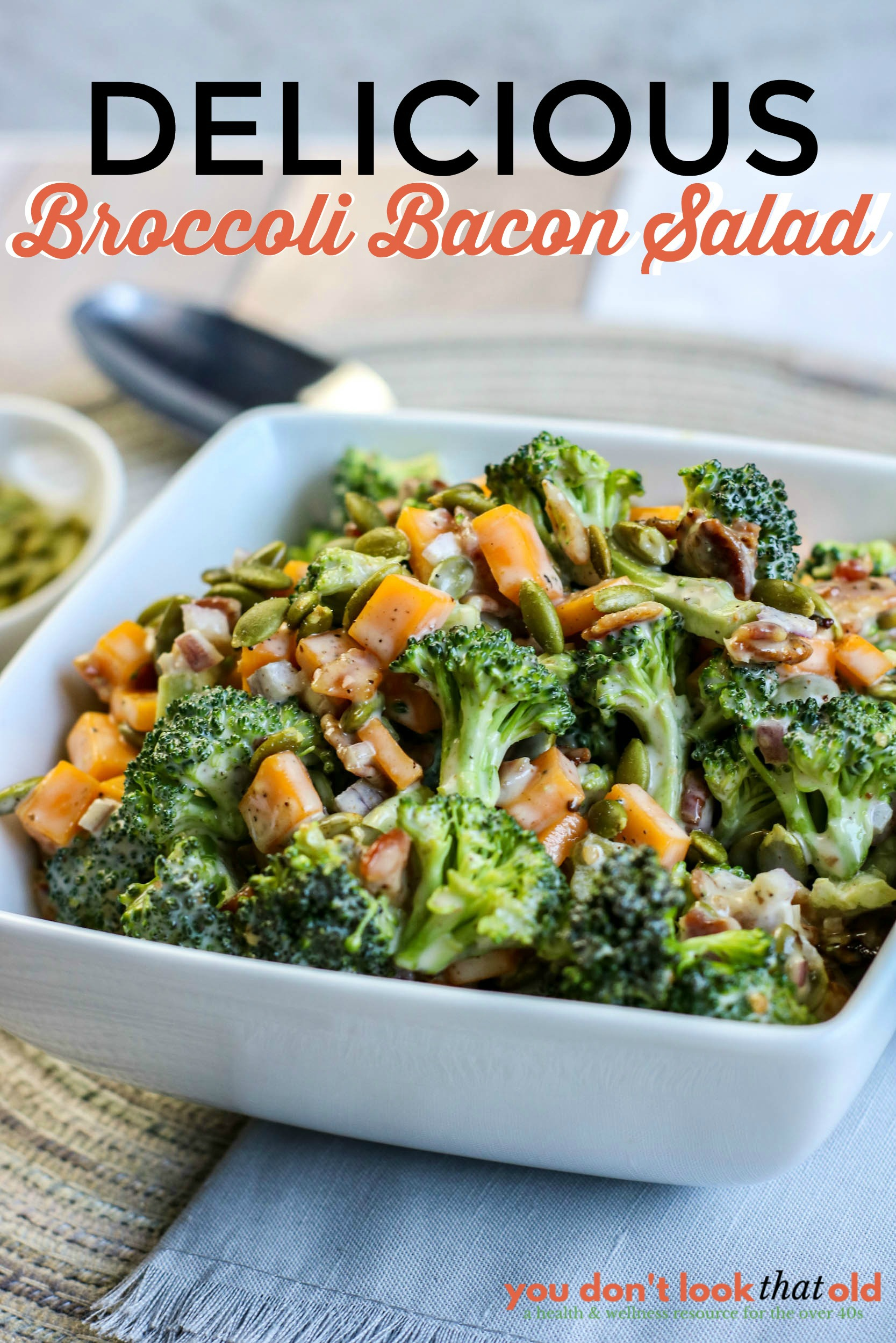 How to make an easy & delicious broccoli bacon salad for any occasion any time of the year.